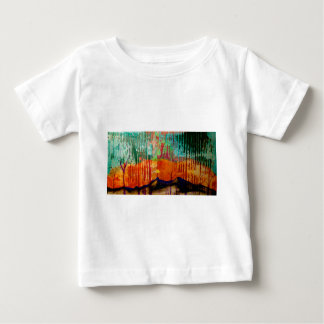 Fine art landscape mountains with color baby T-Shirt