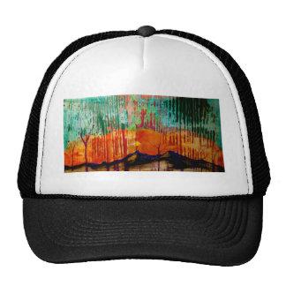 Fine art landscape mountains with color hats