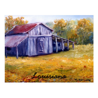 Fine Art Louisiana Barn from Oil  Painting Postcard