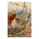 Fine Art Mermaid Ilustration Poster