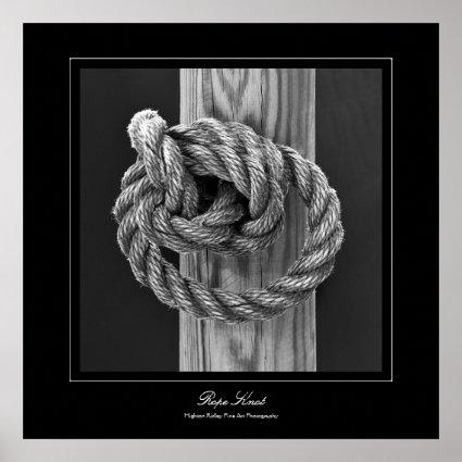 Fine Art Minimalist Rope Knot Print