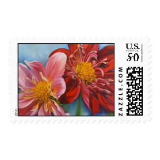 Fine Art & Nature Postage -Farmers Market Dahlias