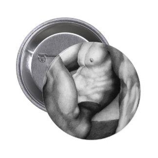 "Fine Art  Nude-male by ""RjF"".xx. 2 Inch Round Button"