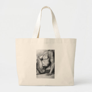 "Fine Art  Nude-male by ""RjF"".xx. Large Tote Bag"