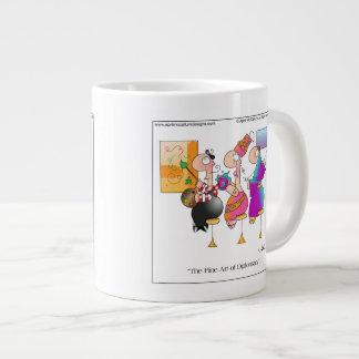 FINE ART OF DIPLOMACY Cartoon Mug 20 Oz Large Ceramic Coffee Mug