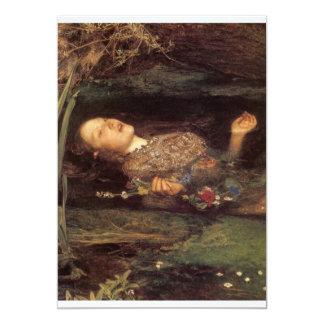 Fine art Ophelia painting 5x7 Paper Invitation Card
