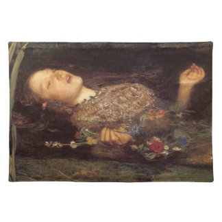 Fine art Ophelia painting Placemats