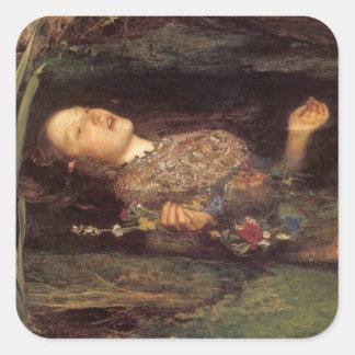 Fine art Ophelia painting Square Sticker