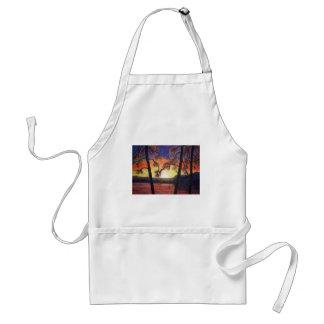 Fine Art Painted Sunset Brilliant Colors K Lindsey Adult Apron
