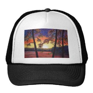 Fine Art Painted Sunset Brilliant Colors K Lindsey Trucker Hat