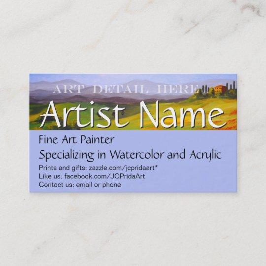 Fine Art Painter Artist S Business Card Template