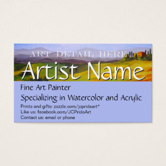 Fine Art Painter Business Cards & Templates | Zazzle