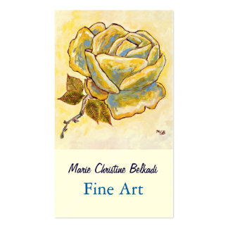 Fine Art Painting for Artist Rose Flower Double-Sided Standard Business Cards (Pack Of 100)
