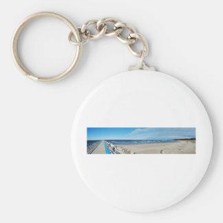 Fine Art Panorama Photograph Onekama, Michigan Basic Round Button Keychain