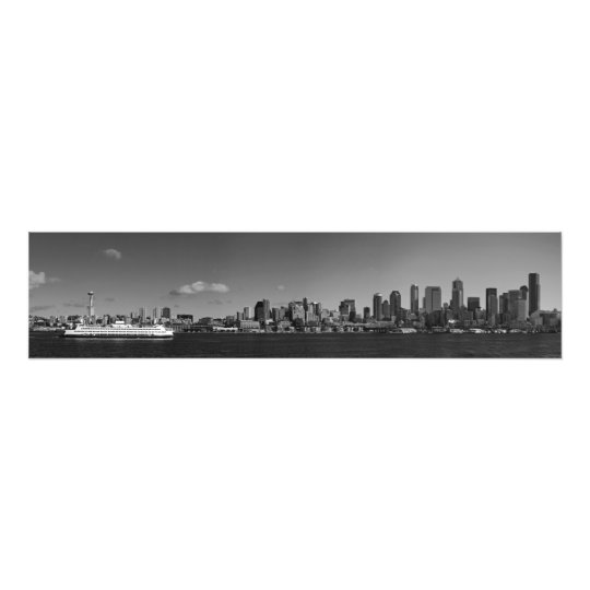 Fine Art Panorama Print Seattle from Puget Sound