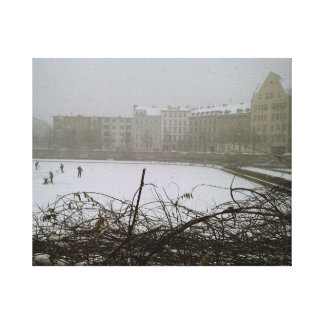 Fine Art Photography Berlin frozen lake Canvas Print