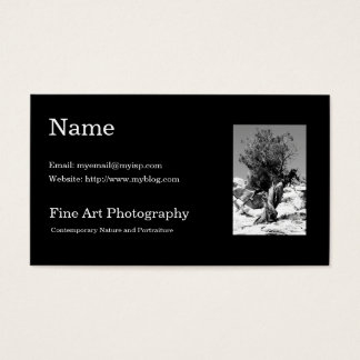 Fine Art Photography Business Card Template