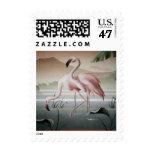 Fine Art Pink Flamingo Stamp