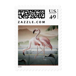 Fine Art Pink Flamingo Stamp