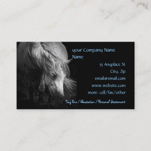 Fine Art Pony Head and Mane Business Card