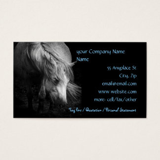 Fine Art Pony Head and Mane business card template