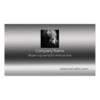Fine Art Pony Head and Mane on metallic-effect Double-Sided Standard Business Cards (Pack Of 100)
