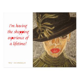 Fine Art Postcard - Shopping Experience