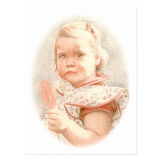 "Fine Art Postcard- ""Sweet Lolly"" Colour Pencil Art Postcard"