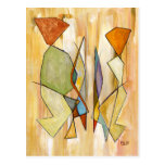 Fine Art Postcards Beige Abstract Couple Painting