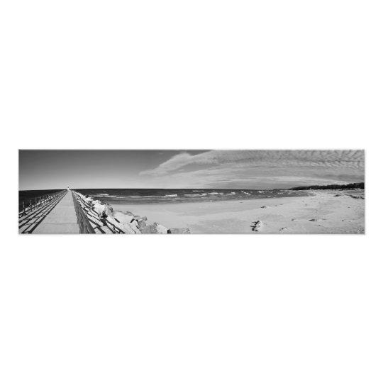 Fine Art Print Panorama Onekama, Michigan Pier