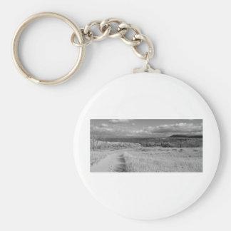 Fine Art Print Path through Sleeping Bear Dunes Basic Round Button Keychain
