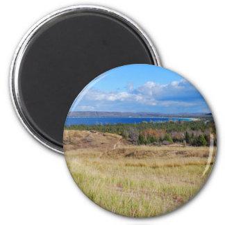 Fine Art Print Path through Sleeping Bear Dunes Fridge Magnet