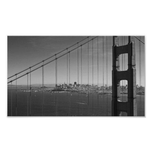 Fine Art Print San Francisco through Golden Gate B Photo Print