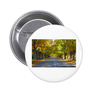 Fine Art Print Tunnel of Trees Pinback Button