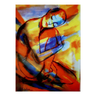 "Fine Art  Prints Contemporary Art  ""Peaceful Flow"" Poster"