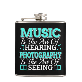 Fine Art Quote - Music Photography - See Hear Flask