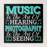Fine Art Quote - Music Photography - See Hear Jigsaw Puzzle