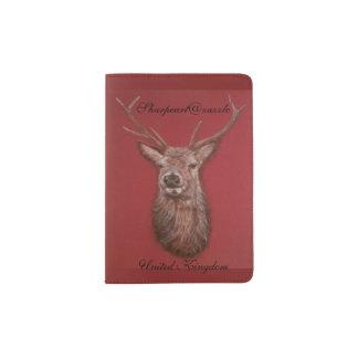 Fine Art red Deer Stag Passport Holder