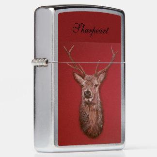 Fine Art red Deer Stag Zippo Lighter