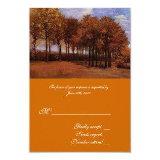 Fine art RSVP cards for fall weddings. Invites