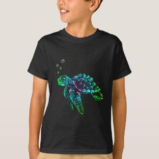 Fine Art Scratchboard Sea Turtle T-Shirt