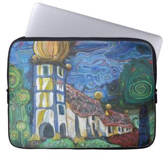 Fine art sleeve inspired by Hundertwasser Laptop Sleeve