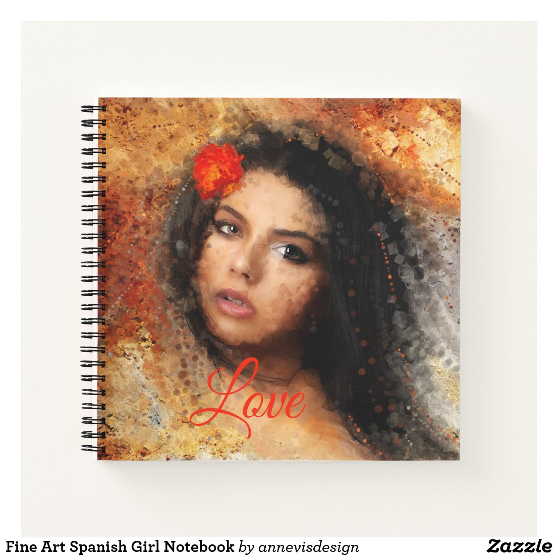 Fine Art Spanish Girl Notebook