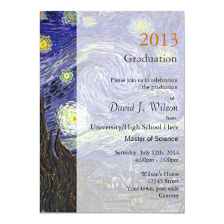 Fine art Starry Night graduation party Card