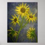 "Fine Art Sunflower Painting Print ""Apparition 1"""