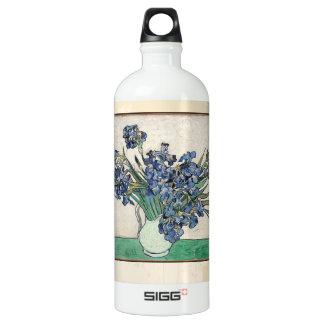 Fine Art Van Gogh Irises Aluminum Water Bottle