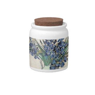 Fine Art Van Gogh Irises Candy Dish