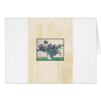 Fine Art Van Gogh Irises Card