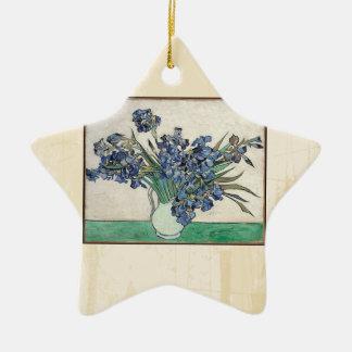 Fine Art Van Gogh Irises Ceramic Ornament
