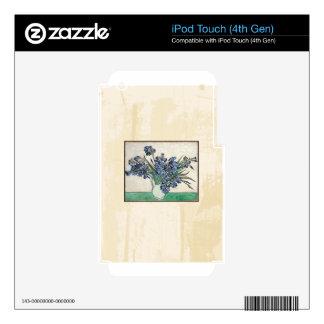 Fine Art Van Gogh Irises iPod Touch 4G Skin